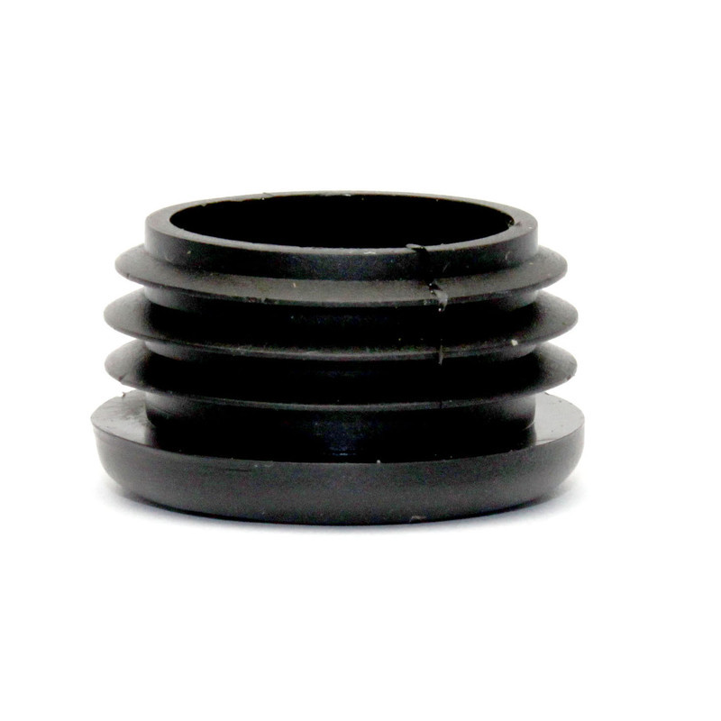 Round Chair Tip Insert Plug - Ribbed -  1 1/4''  Diameter Tube
