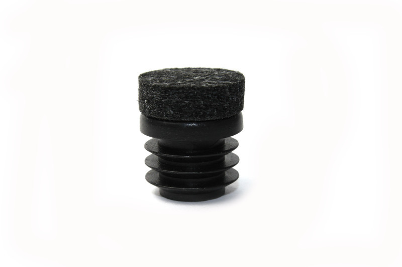 Round Chair Tip Insert Plug with SuperFelt® - Ribbed -  3/4'' Diameter Tube