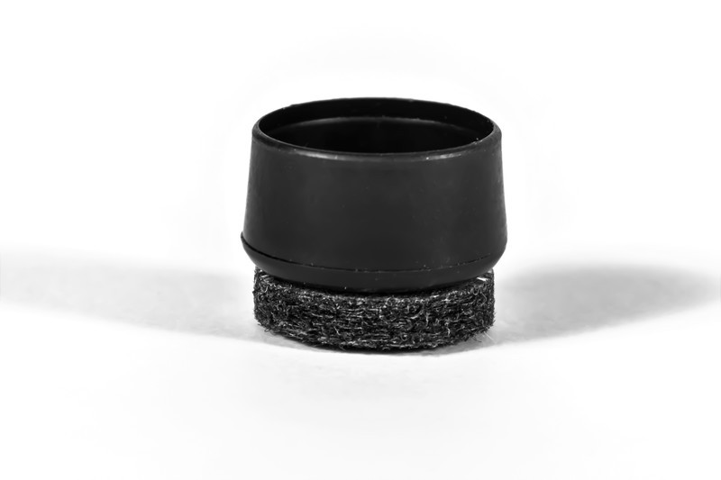 Chair Tip End Cap - Fits over 1'' Diameter Tube with SuperFelt® for Furniture